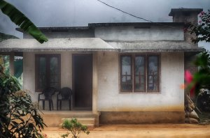 Little house in the fog
